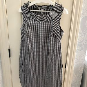 Talbots 10p gingham dress with ruffle